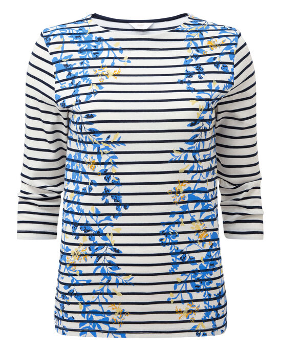 Placement Print Stripe Top